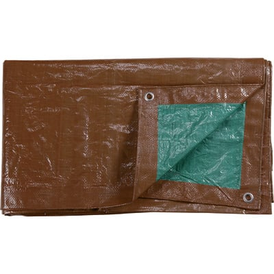 """Roughneck 3.4-Oz. Heavy-Duty Poly Tarp - Brown/Green, 12ft. x 20ft."""