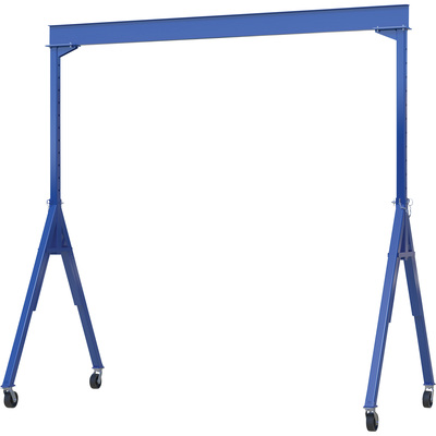 Vestil Industrial Steel Adjustable Gantry Crane — 10,000-Lb. Capacity, 12 1/8in.H x 4in.W I-Beam, 6ft.6in–10ft. Usable Height, Model# AHS-10-15-10