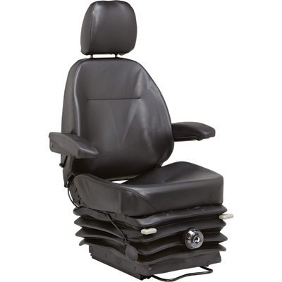 """K & M Heavy-Duty Mechanical Suspension Seat - Black, Model# 7912"""
