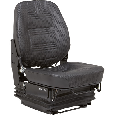 K & M Hydraulic Shock Suspension Construction Seat - Black, Model# 8126