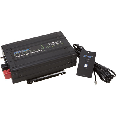 """NPower XRP Pure Sine Wave Inverter with Remote Control - 1,000 Watt, 2 AC Outlets"""