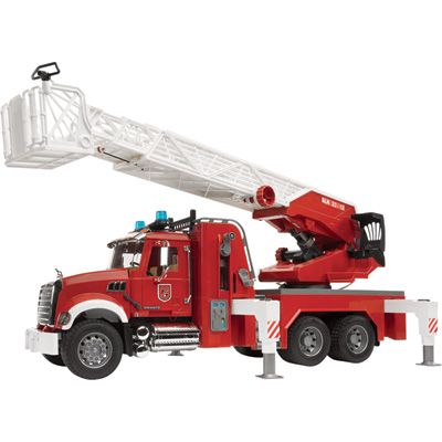 """Bruder MACK Granite Fire Engine with Water Pump - Fire Truck, 1:16 Scale, Model# 02821"""
