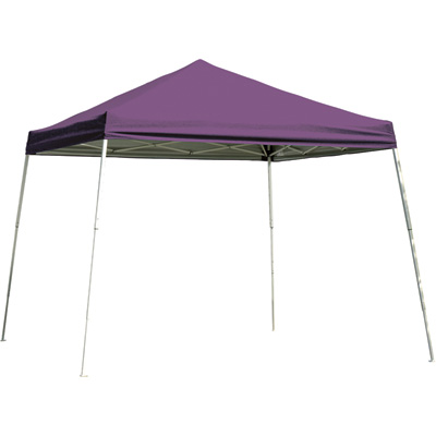 ShelterLogic Sport Series Pop-Up Outdoor Canopy Tent — 8ft. x 8ft., Open Top, Slant Leg, Purple, Model# 22701