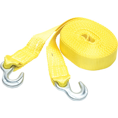 SmartStraps Heavy-Duty Tow Strap with Hooks — 30ft.L, 9000-Lb. Breaking Strength, Yellow, Model# 132