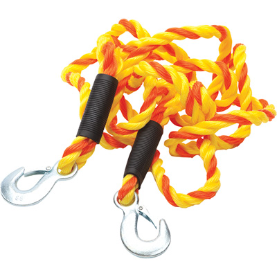 SmartStraps Heavy-Duty Tow Strap with Hooks — 14ft.L, 6800-Lb. Capacity, Yellow, Model# 133