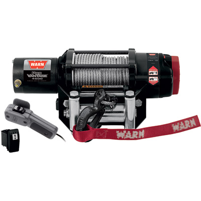 """Warn ProVantage 4500 Series 12 Volt ATV Winch - With Steel Wire Rope, 4,500-Lb. Capacity, Model# 90450"""