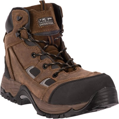 McRae Men's Industrial 6in. Puncture-Resistant Composite Toe EH Lace-Up Work Boots - Brown, Size 9 1/2 Wide, Model# MR83324