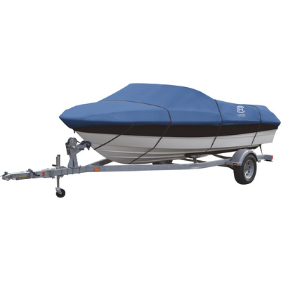 Classic Accessories Stellex All Seasons Boat Cover — Blue, Fits 14ft.–16ft. x 75in.W Boats, Model# 20-145-080501-00