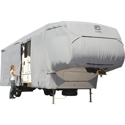 Classic Accessories PermaPro Heavy-Duty RV Cover — Gray, Fits 20ft.-23ft. x 122in.H 5th Wheel RVs