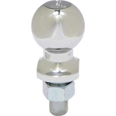 Ultra-Tow Chrome-Plated Hitch Ball — 2in. Ball, 3/4in. Dia. x 1 3/4in.L Shank, 3500-Lb. Capacity