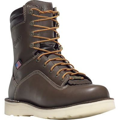 Danner Quarry 8in. Gore-Tex Waterproof Safety Toe Wedge Boots - Brown, Size 9 Wide, Model# 173277D