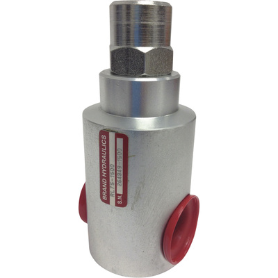 Brand Hydraulic In-Line Relief Valve — 30 GPM Flow Rate, Model# RL75-2000