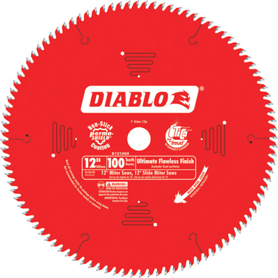 FREE SHIPPING — Diablo Ultra Fine Circular Saw Blade — 12in., 100 Tooth, For Wood and Wood Composites, Model# D12100X
