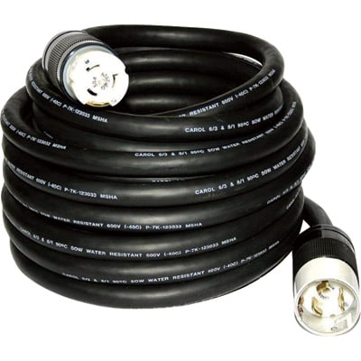 """CEP All-Weather Power Cord - 50 Amps, 240 Volts, 50ft.L, Model# 6450M"""