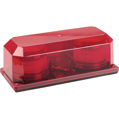 Wolo Priority 2 Strobe Mini Light Bar – Red Lens, Permanent Mount, Model# 3710P-R