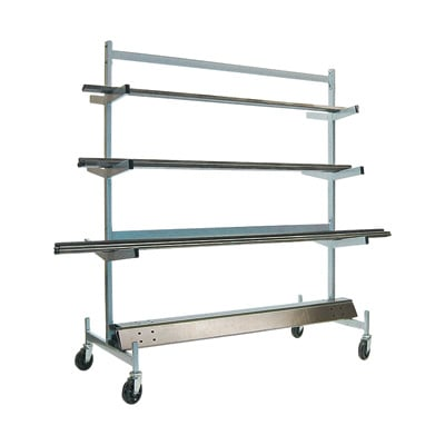 Raymond Pipe Storage Rack with Brakes — 1,200-Lb. Capacity, Model# 976