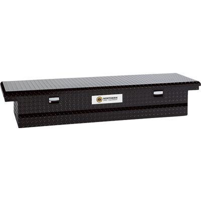 Northern Tool + Equipment Aluminum Single-Lid Crossbed Truck Box - Black, 64in.L x 20 1/2in.W x 14in.H