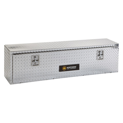 Northern Tool + Equipment Aluminum Top-Mount Truck Box - Diamond Plate, 48in.L x 12 3/4in.D x 16in.H