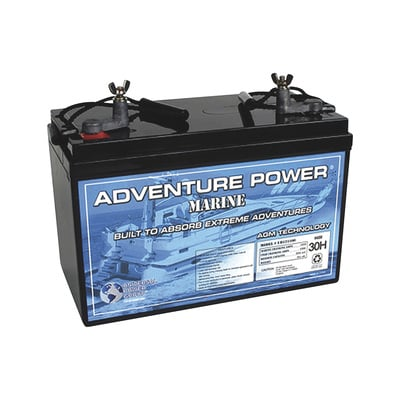 UPG Sealed Marine Battery — 12V, 110 Amps, Model# UP121100