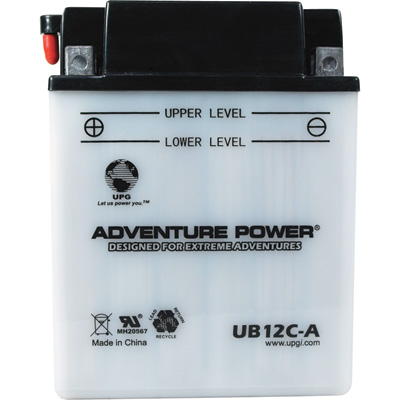 """UPG Flooded Cell Motorcycle Battery - 12V, 12 Amps, Model# UB12C-A"""