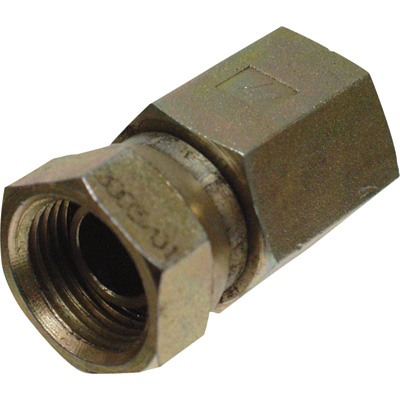 Apache Straight Swivel Adapter — 1/4in. F NPSM x 1/4in. F NPTF