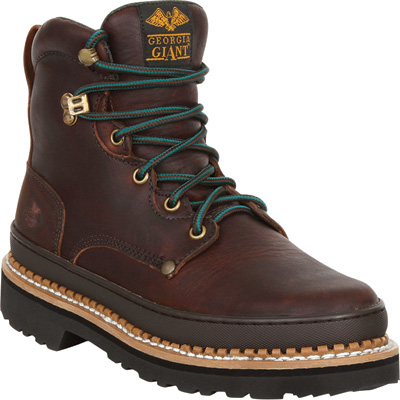 Georgia Men's Giant 6in. Steel Toe Work Boots - Brown, Size 10 1/2 Wide, Steel Toe, Model# G6374