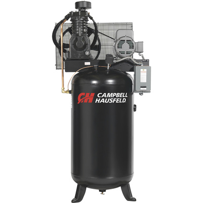 FREE SHIPPING — Campbell Hausfeld Two-Stage Air Compressor — 5 HP, 16.6 CFM @ 175 PSI, 208-230/460 Volt Three Phase, Model# CE7051