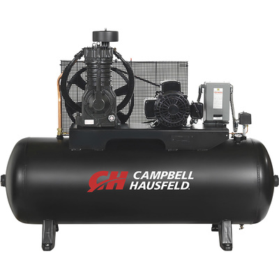 FREE SHIPPING — Campbell Hausfeld Two-Stage Air Compressor — 5 HP, 16.6 CFM @ 175 PSI, 230 Volt Single Phase, Model# CE7052