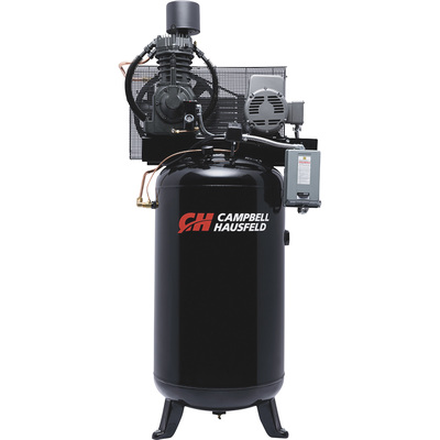 FREE SHIPPING — Campbell Hausfeld Fully Packaged Air Compressor — 7.5 HP, 24.3 CFM @ 175 PSI, 230 Volt Single Phase, Model# CE7000FP