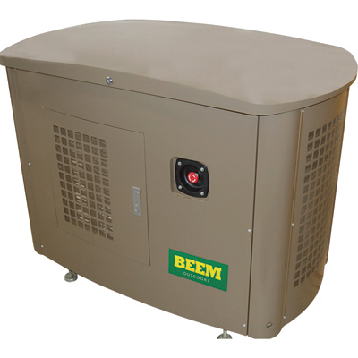 BEEM Liquid Cooled Standby Generator - 20 kW (LP), 18 kW (NG), 200 Amp Automatic Transfer Switch, Model# BMG20