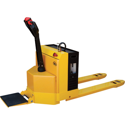 Vestil Electric Pallet Truck with Scale and Stand-On Platform — 4,500-Lb. Capacity, Model# EPT-2748-45-SCL-RP