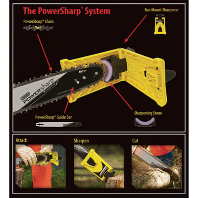 Oregon PowerSharp Bar-Mount Chain Sharpening Kit — For 16in. Stihl Chain Saws, Model# 541655