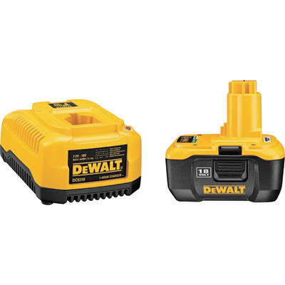 """FREE SHIPPING - DEWALT Heavy-Duty 1-Hour Charger and 18V Battery Pack with NANO Technology, Model# DC9180C"""