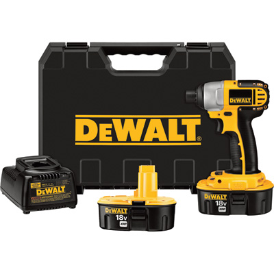 """FREE SHIPPING - DEWALT Heavy-Duty Cordless Impact Driver Kit - 18 Volt, 2400 RPM, 1/4in.-Drive, Model# DC825KA"""