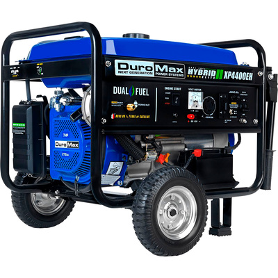 DuroMax Portable Dual Fuel Generator — 4,400 Surge Watts, 3,500 Rated Watts, Electric Start, Model# XP4400EH