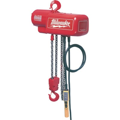 Milwaukee Professional Electric Chain Hoist — 1-Ton Capacity, 15Ft. Lift, Model# 9567