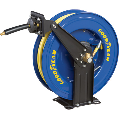 """Goodyear Retractable Air Hose Reel with Hose - 3/8in. x 50ft., Model# 46731"""