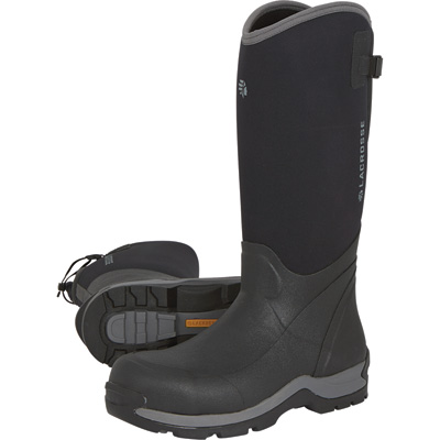 FREE SHIPPING — LaCrosse Men's Alpha 16in. Thermal Composite Toe Rubber Work Boots — Black, Size 9, Model# 644103
