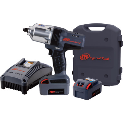 FREE SHIPPING — Ingersoll Rand IQv20 Series Cordless 20V Impact Wrench Kit — 1/2in. Drive, 780 Ft.-Lbs. Torque, 2 Batteries, Model# W7150-K2