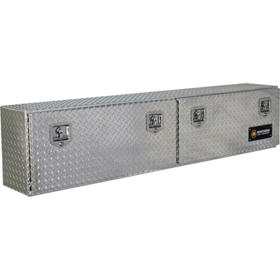 Northern Tool + Equipment Locking Top-Mount Truck Tool Box — Diamond Plate Aluminum, 72in.