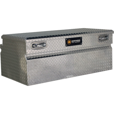 Northern Tool + Equipment Locking Wide-Style Chest Truck Tool Box — Diamond Plate Aluminum, 48in.