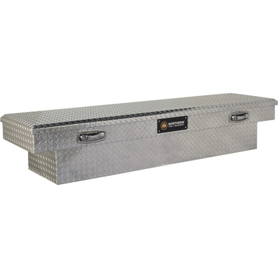 Northern Tool + Equipment Crossover Low Profile Truck Tool Box — Diamond Plate Aluminum, 71in.