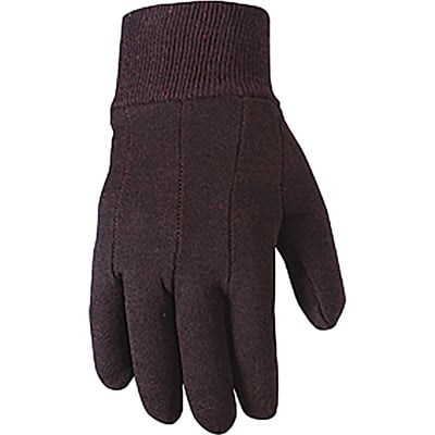 Wells Lamont Men's Value Packs of Jersey Work Gloves - Brown, Large, 12-Pair Pack, Model# 506LZ