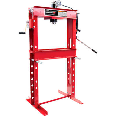 Arcan 30-Ton Hydraulic Shop Press with Gauge and Winch — Model# CP300