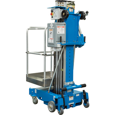 FREE SHIPPING — Genie AC Aerial Work Platform with Sliding Mid-Rail Entry — 30ft. Lift, 350-Lb. Capacity, Model# AWP 30 AC