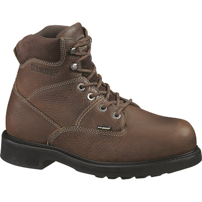 FREE SHIPPING — Wolverine Tremor DuraShock 6in. Steel Toe EH Work Boots - Brown, Size 7 1/2 Extra Wide, Model# W04325