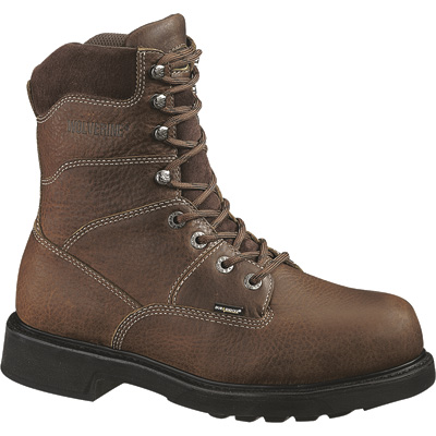 FREE SHIPPING — Wolverine Tremor DuraShock 8in. Work Boots - Brown, Size 9, Model# W04328