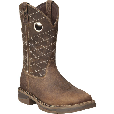 FREE SHIPPING — Durango Men's Workin' Rebel 11in. Safety-Toe EH Western Pull-On Boot - Size 9 1/2, Model# DB 4354