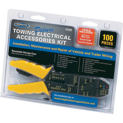 Hopkins Towing Solutions Deluxe Trailer Wiring Installation Kit — 100-Pc. Set, Model# 51020