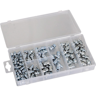 Roughneck Zerk Grease Fittings Kit — 100-Pieces